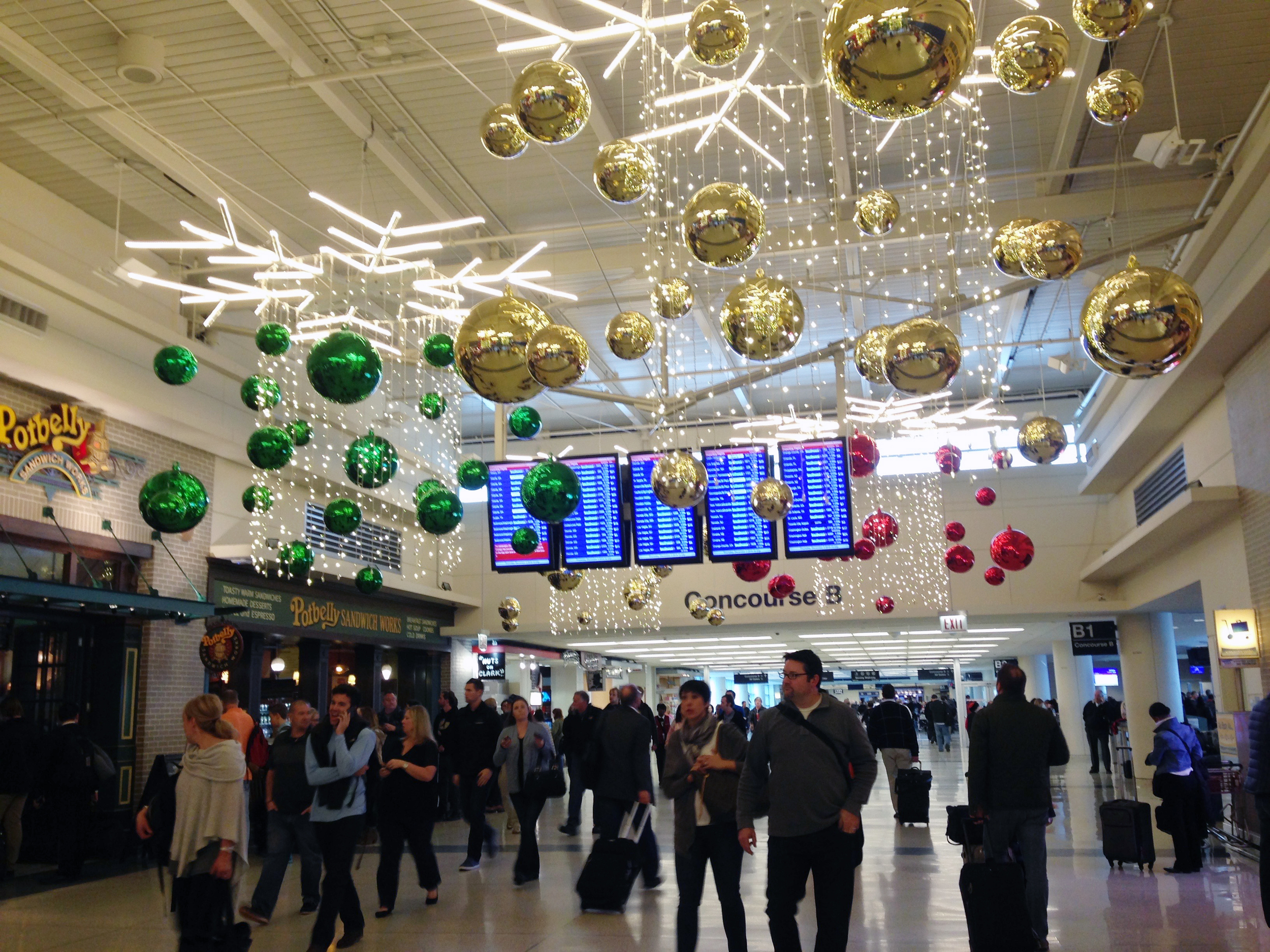 Midway Airport all decked out for Christmas.