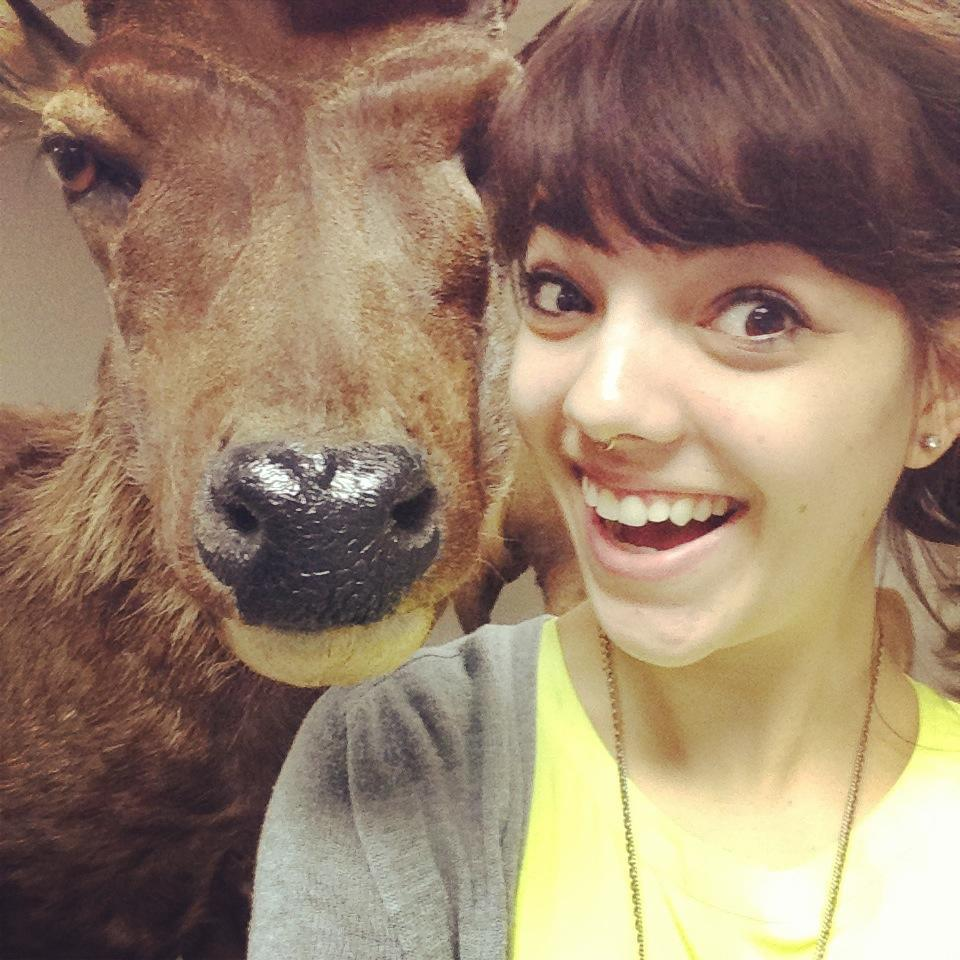 Sambar selfie at the Houston Museum of Natural History - December 2013