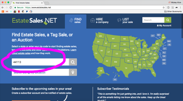 Search using your ZIP code.