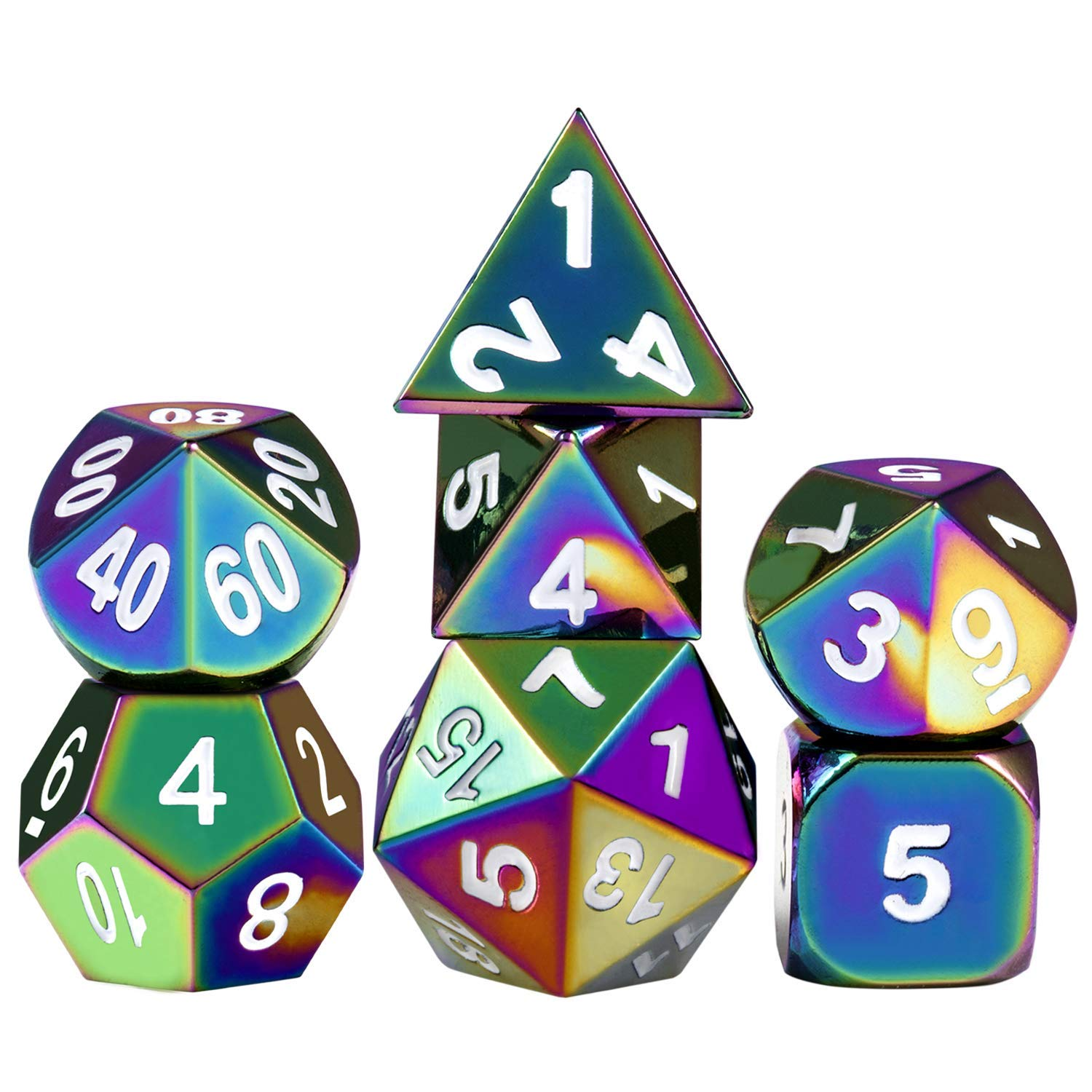 Here to fulfill all of your nerdy needs is this  set of seven Dungeons & Dragons dice . This is something I honestly will probably never need or use, but since I couldn't find a set of regular six-sided dice I wanted to share this anyway.