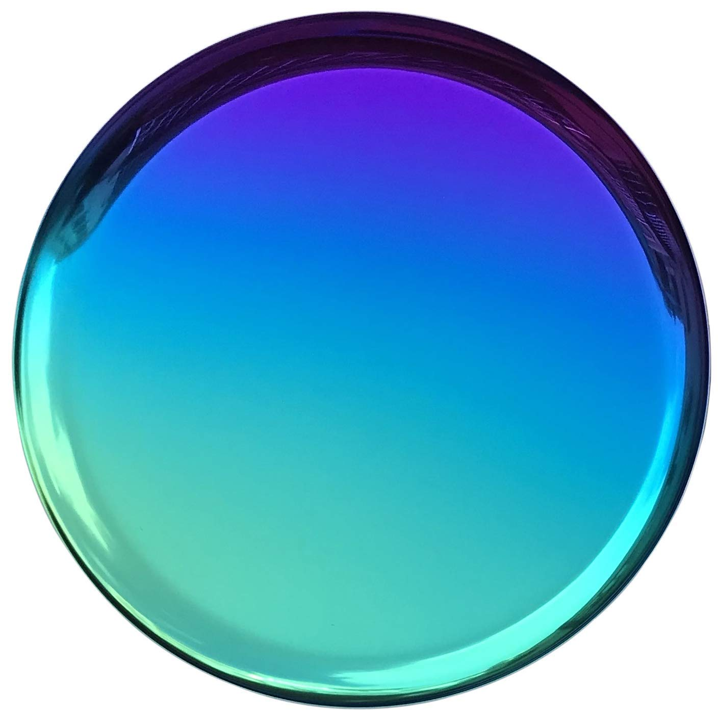 Round out your rainbow kitchenware set with this  round serving tray .