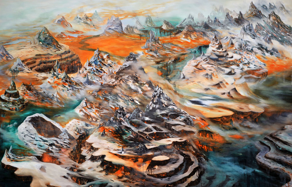 """Elsewhere"" Oil on canvas, 54"" x 84"", 2010  Photo by Rachel Granofsky"