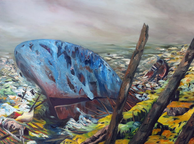 """""""Gyre""""Oil on canvas,36""""x 48"""",2012"""