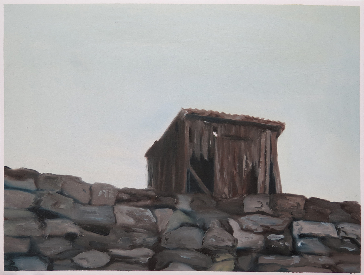 Old dam house   12 in. x 16 in. Oil on paper, 2013
