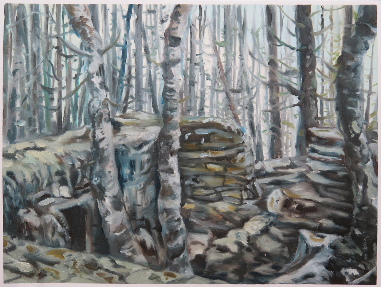 Brokkabakane   12 in. x 16 in. Oil on paper, 2013