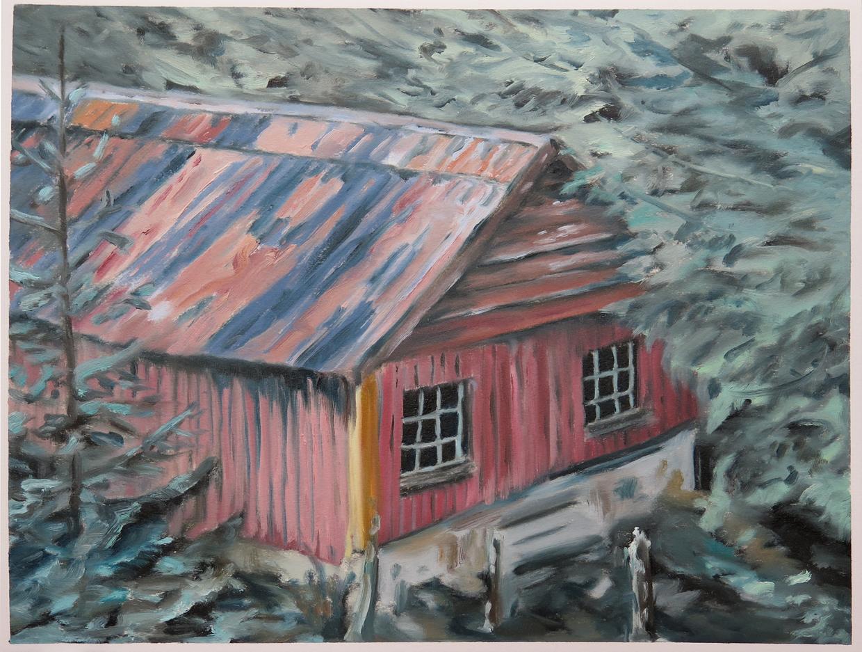 House near Gronholten    12 in. x 16 in. Oil on paper, 2013
