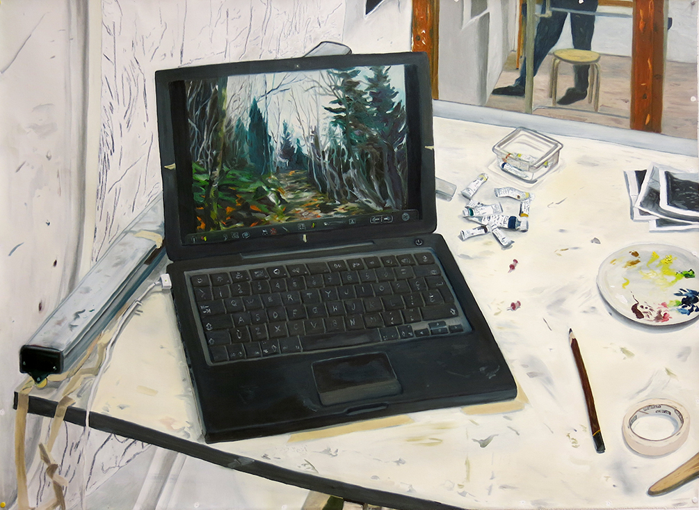 Walking trail jpeg   40 in. x 55.5 in. Oil on canvas, 2013