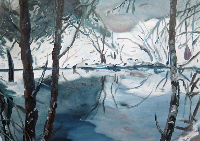 Pond beside NKD   Oil on canvas, 2013