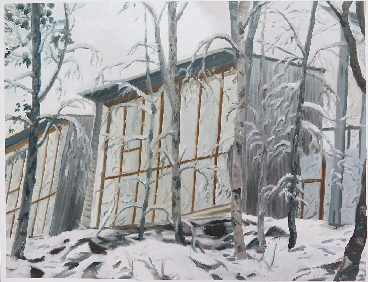 Studio from outside   19.75 in. x 25.5 in. Oil on paper, 2013