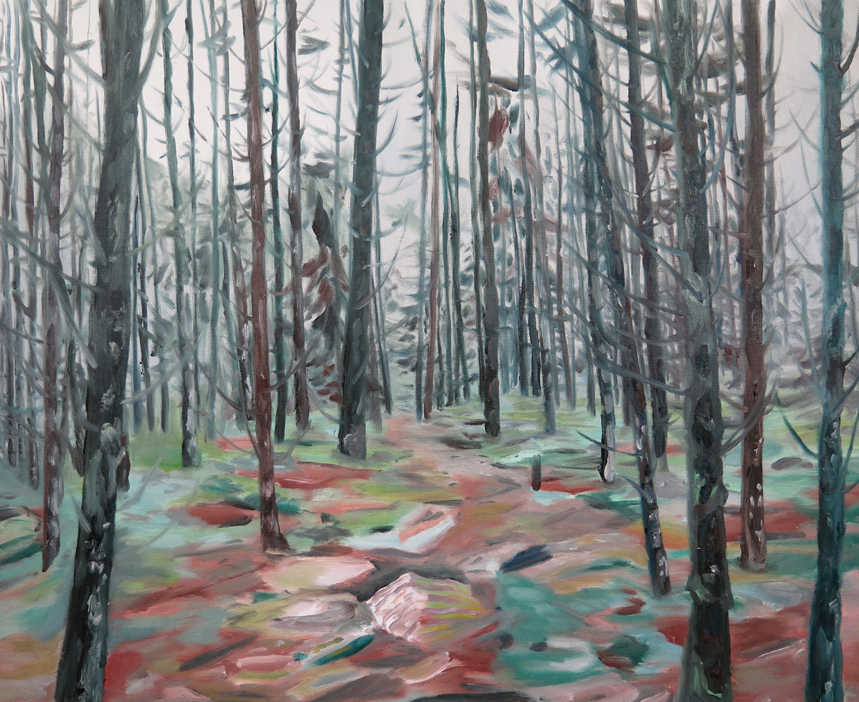 Forest behind Arild's house   Oil on canvas, 2013