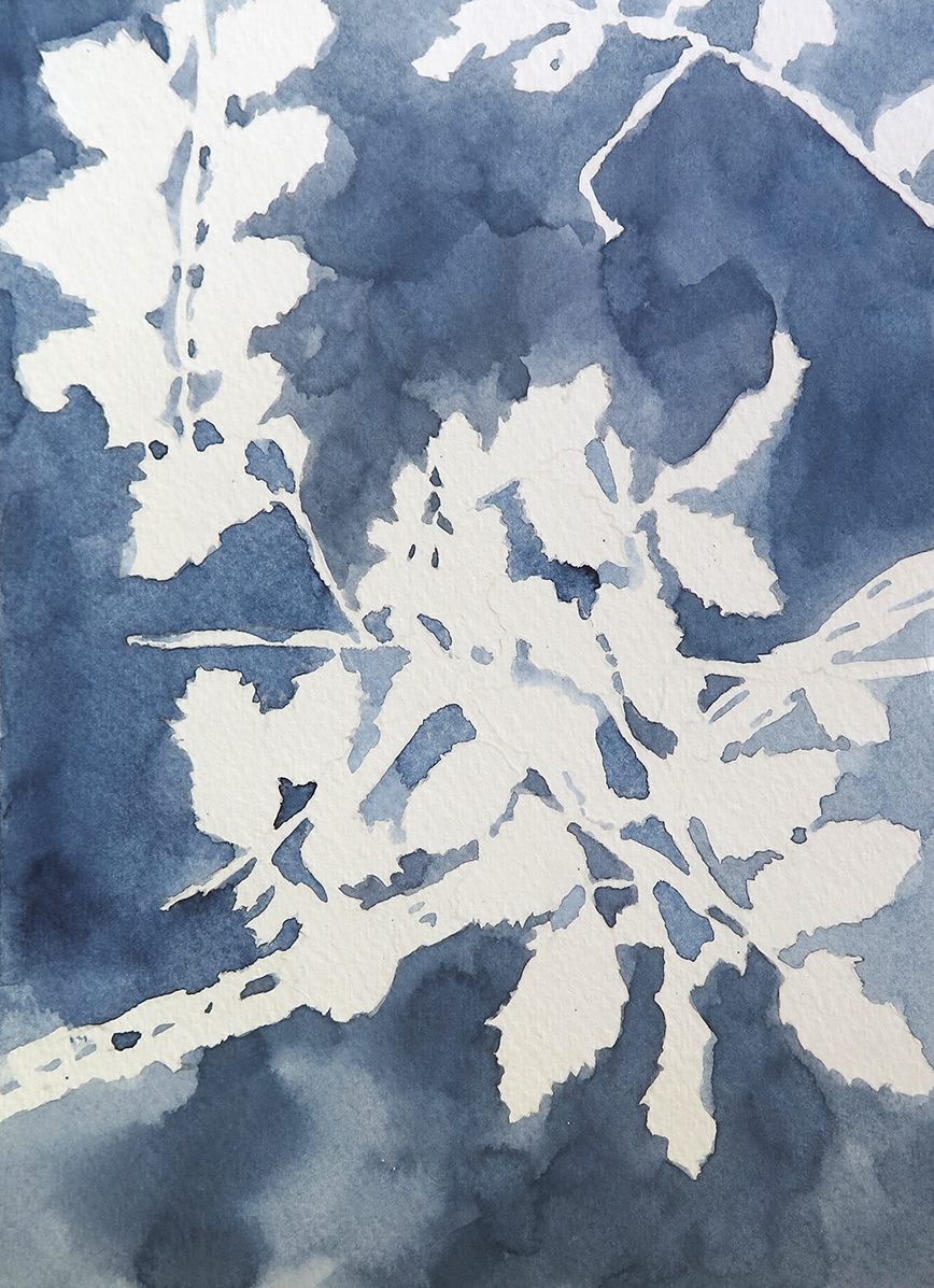 """""""Forest Outside Graz 09"""" Watercolour on paper, 6.75"""" x 9.25"""", 2014."""