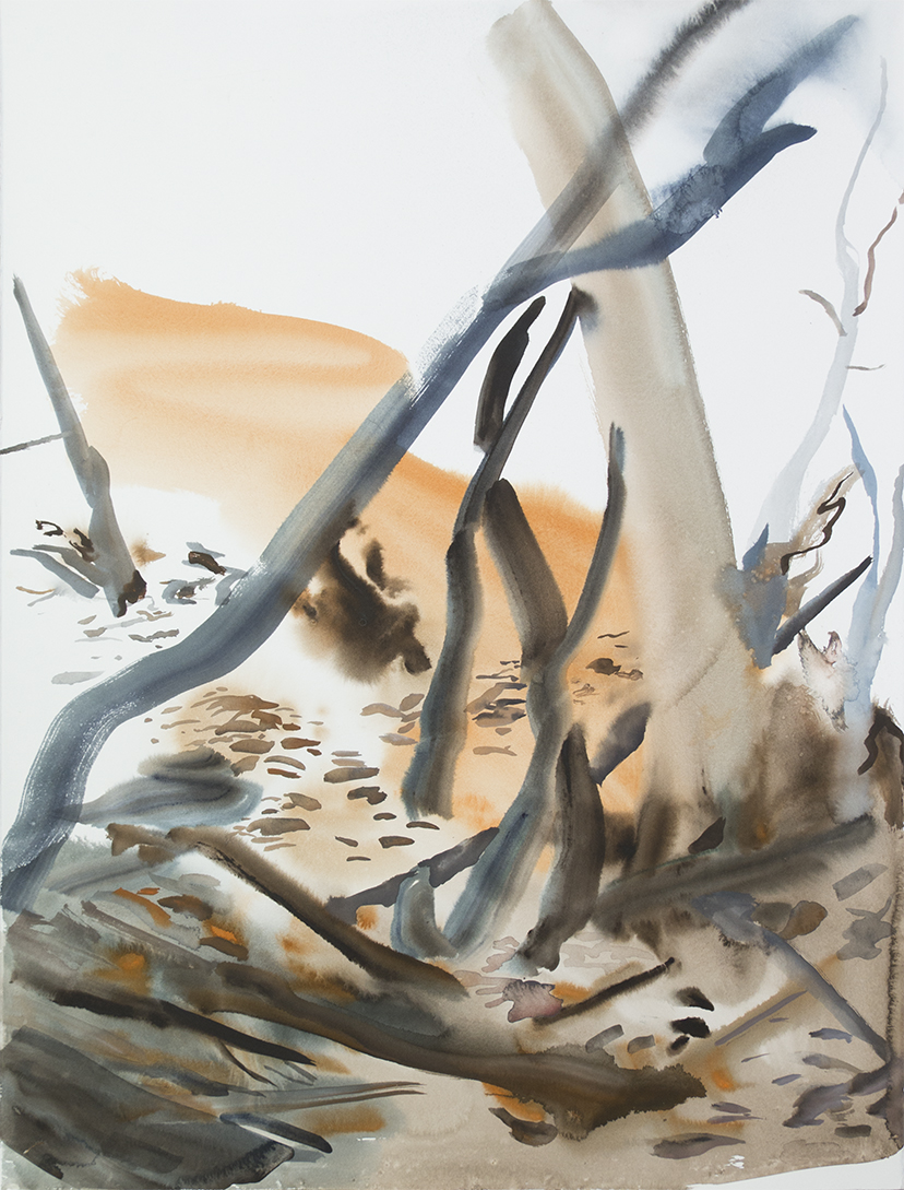 """""""Wienerwald 02""""Watercolour on Arches paper. 30"""" X 22.5"""", 2015"""