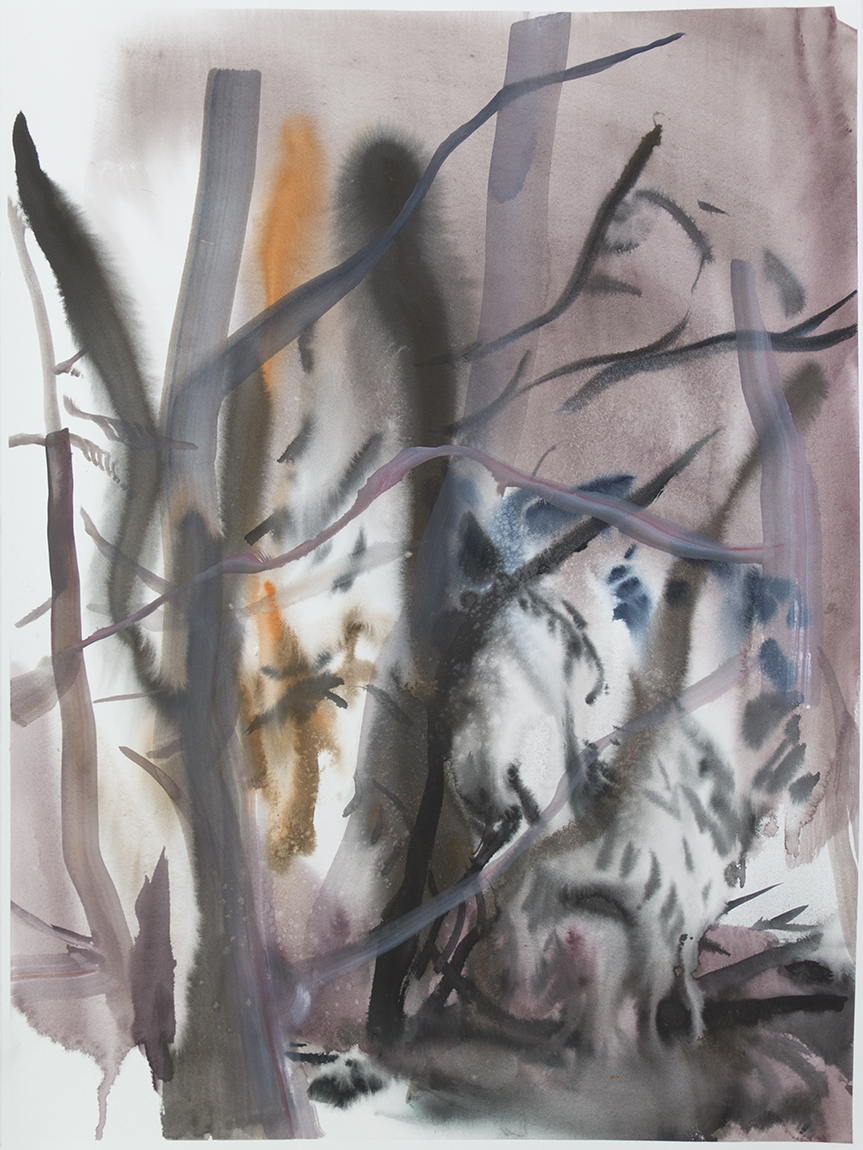 """""""Wienerwald 08""""Watercolour on Arches paper. 30"""" X 22.5"""", 2015"""