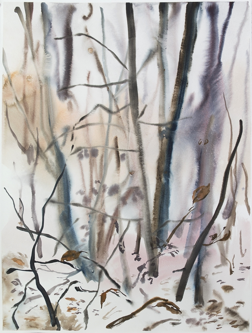 """""""Wienerwald 05""""Watercolour on Arches paper. 30"""" X 22.5"""", 2015"""
