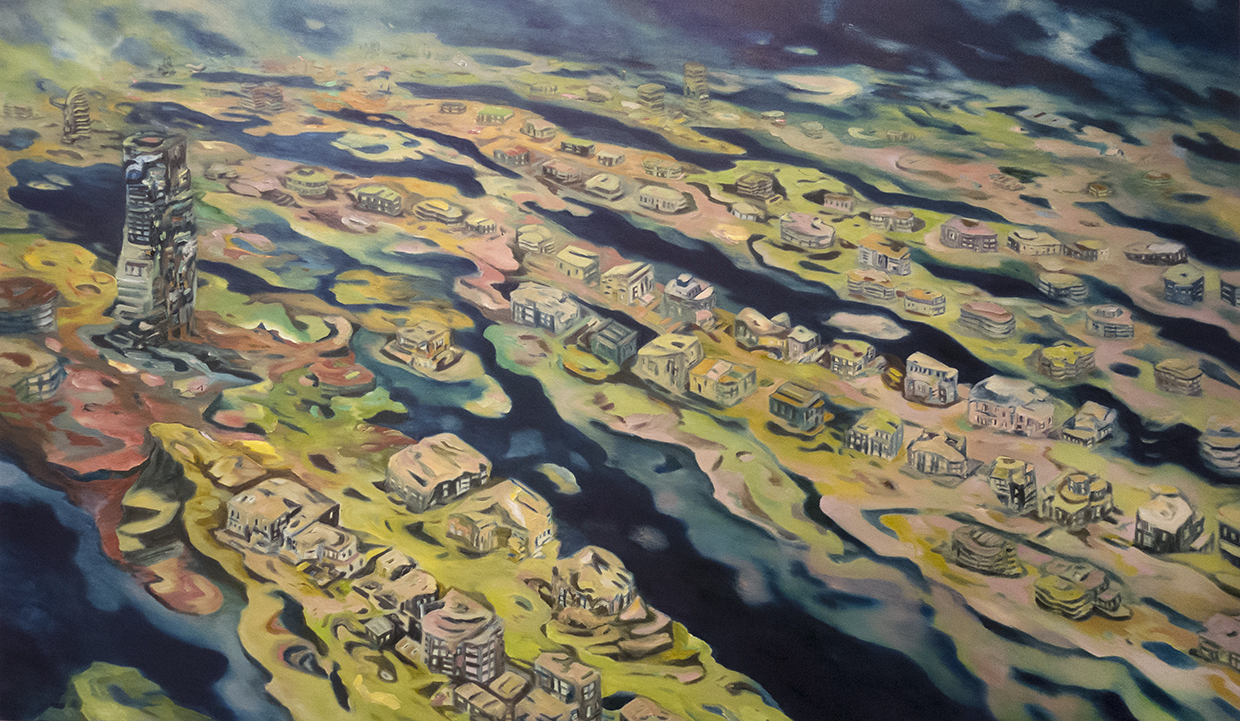 """Drifting Fronds"" Oil on canvas, 51"" x 99"""