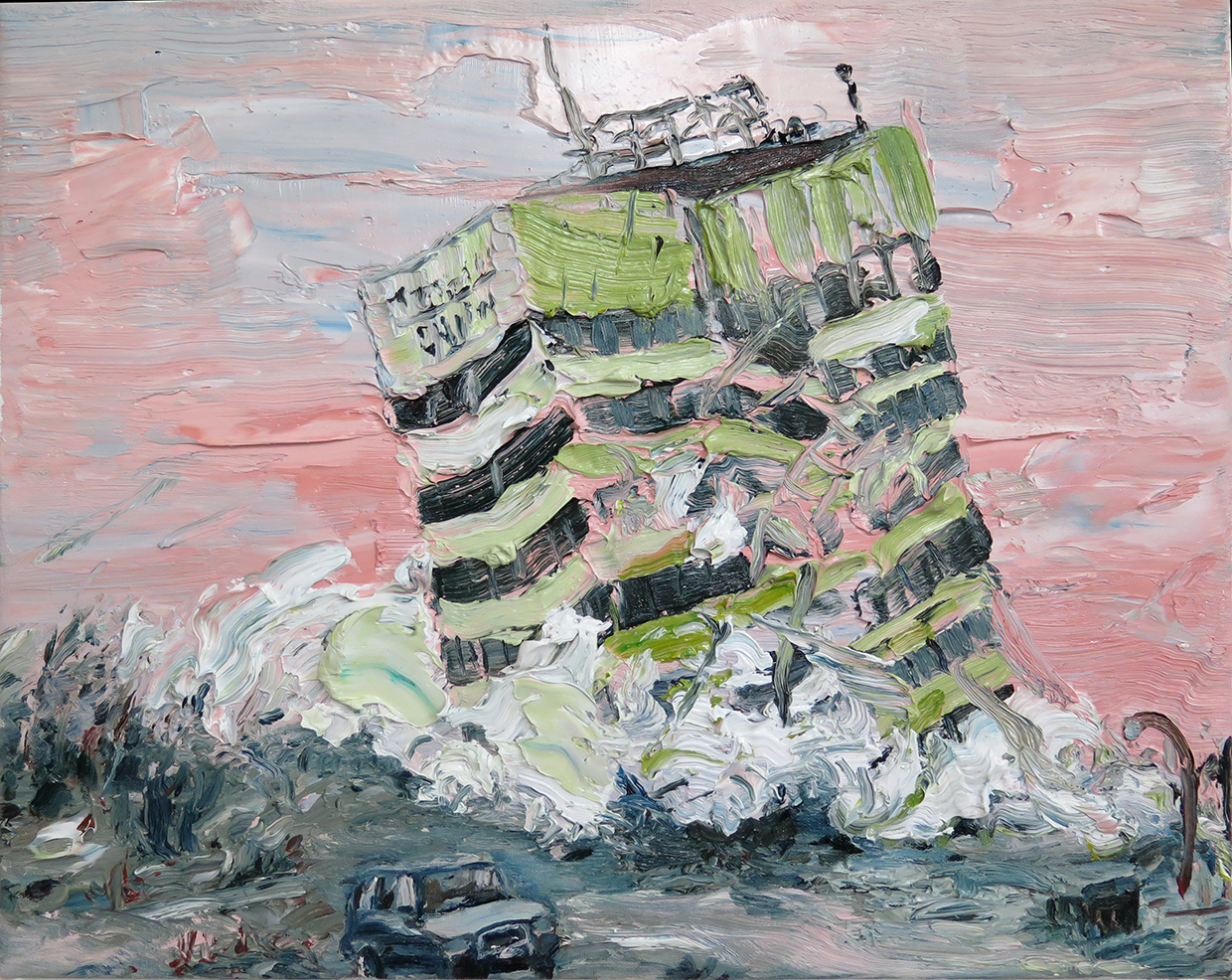"""Christchurch Landmark"" Oil on canvas 16"" x 20"", 2014"