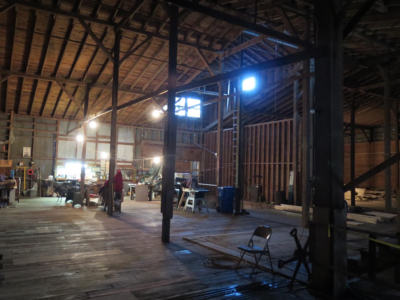The factory's massive interior