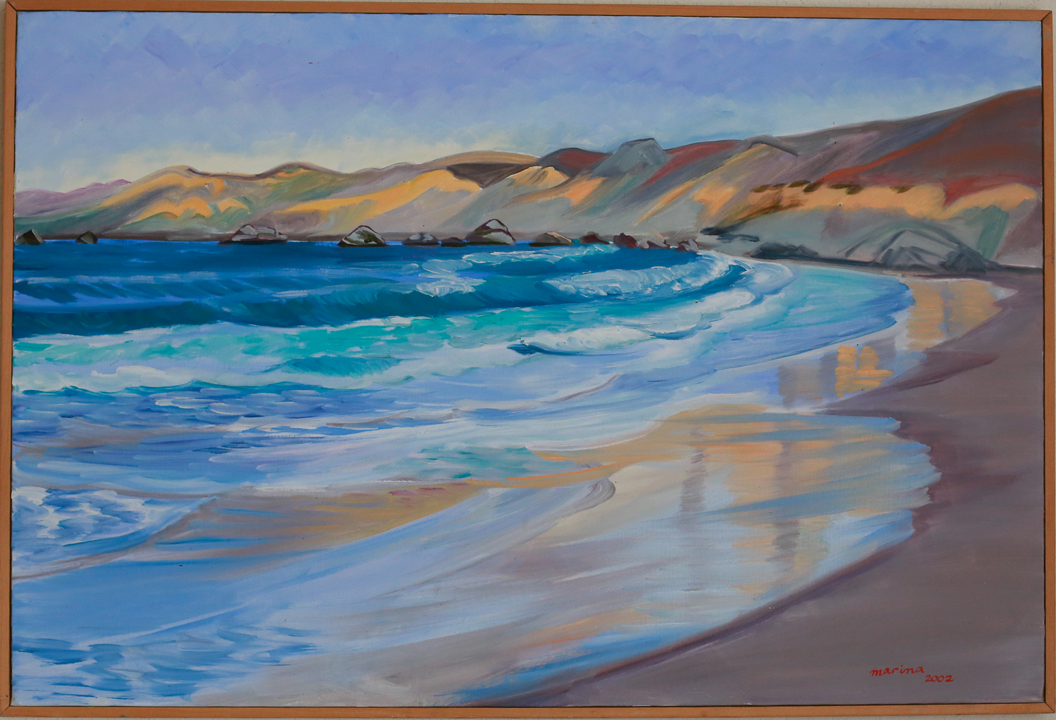 "Dillon Beach in the Morning // Oil on canvas // 24"" x 36"""