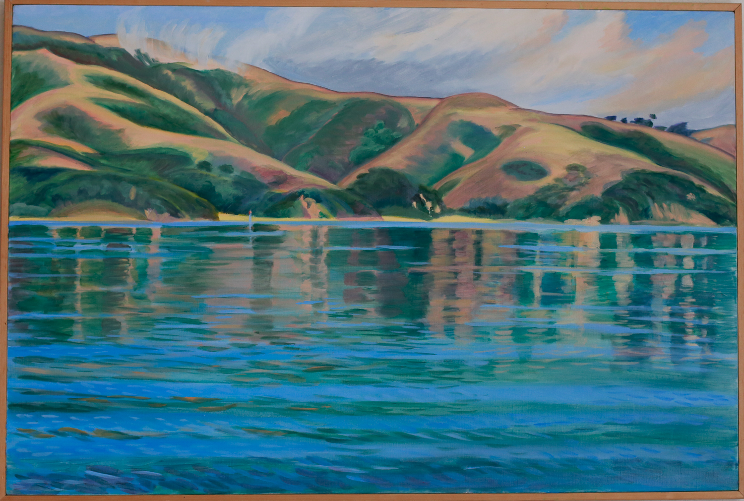 "Pelican Point, Tomales Bay (part of a diptych) // Oil on canvas // 24"" x 36"""