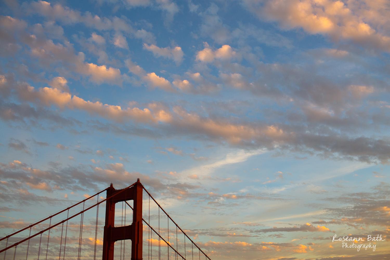 clouds top of golden gate bridge