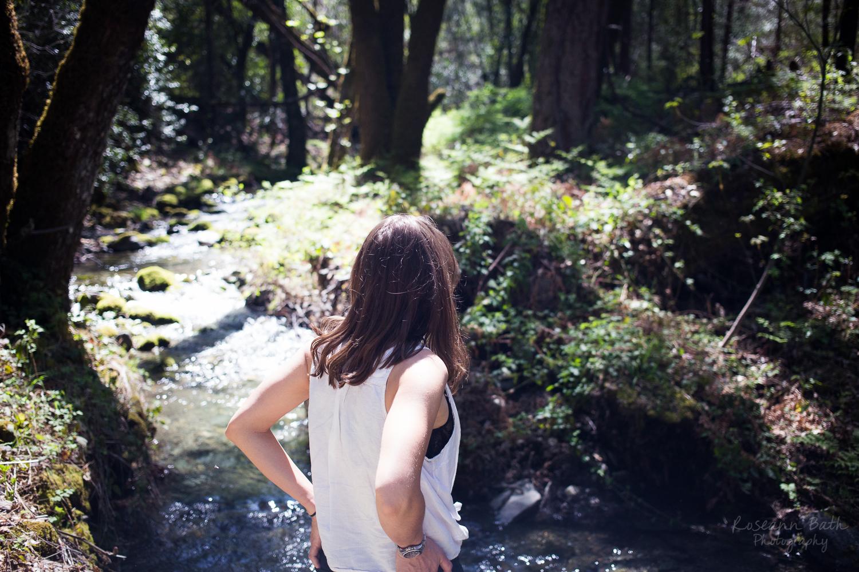 woman near the creek