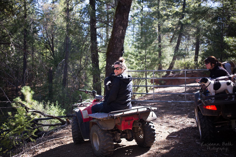 ATV ride with the doggies