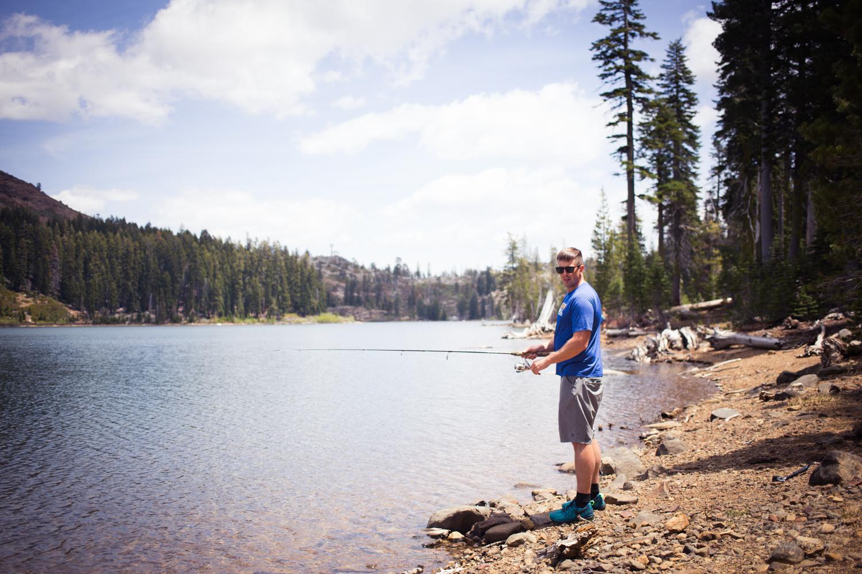 fishing Carr lake