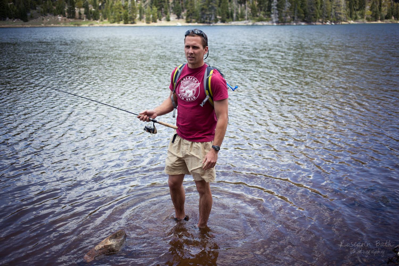 sammy with a fishin po