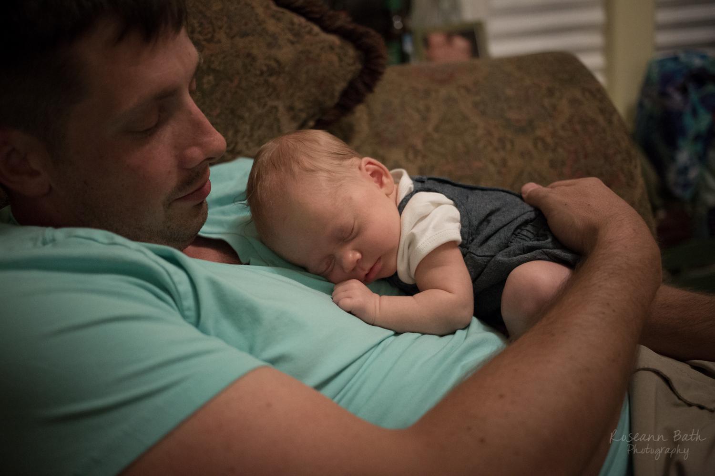 asleep on Uncle Nick