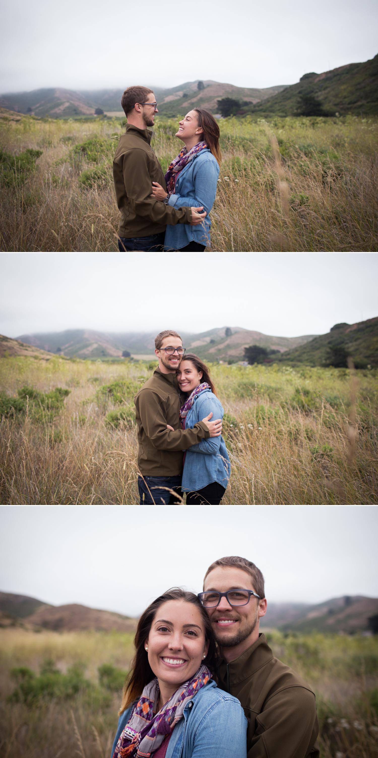 San Francisco Couple, Marin Headlands Engagement