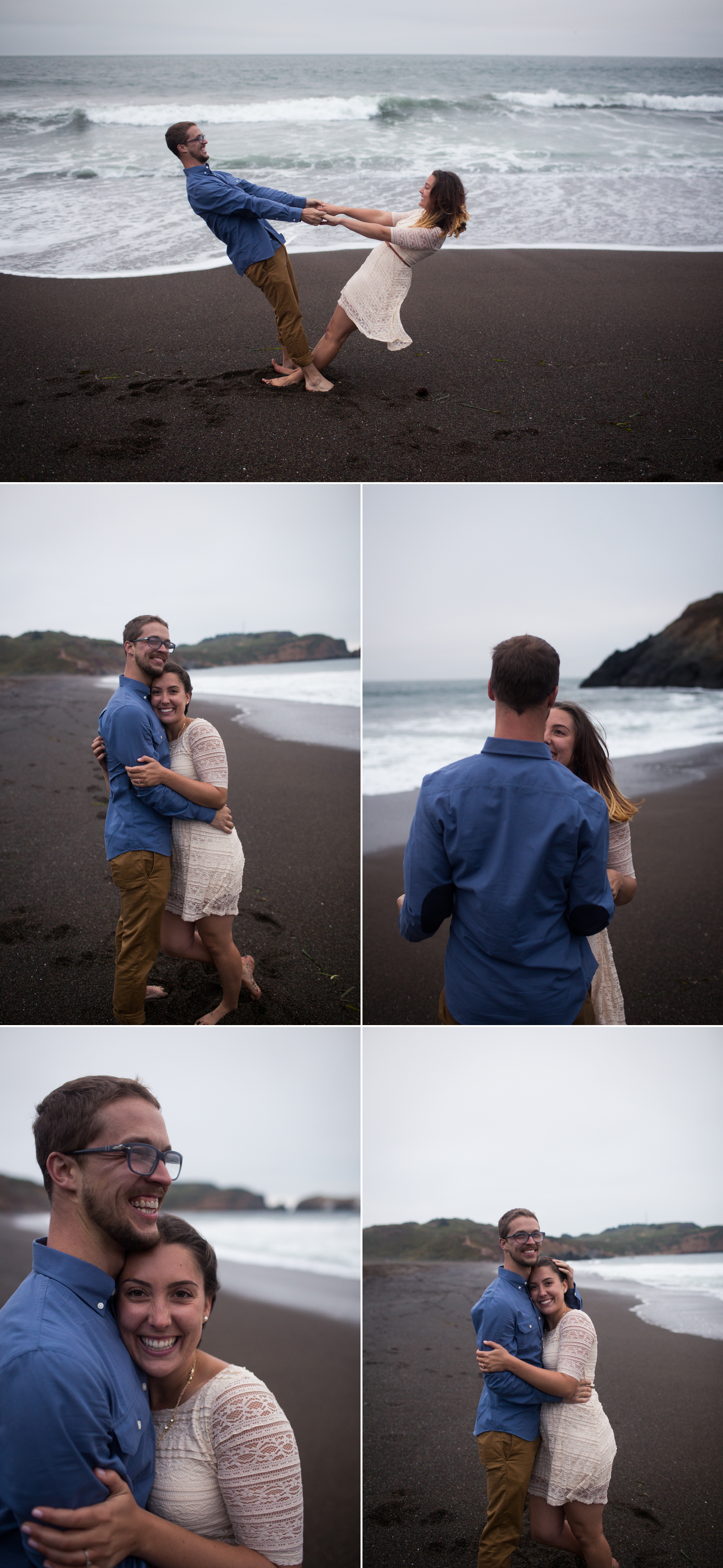 Rodeo Beach Engagement, Marin Headlands