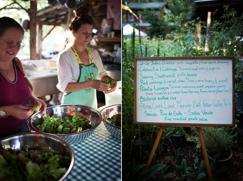 salad prep and dinner menu