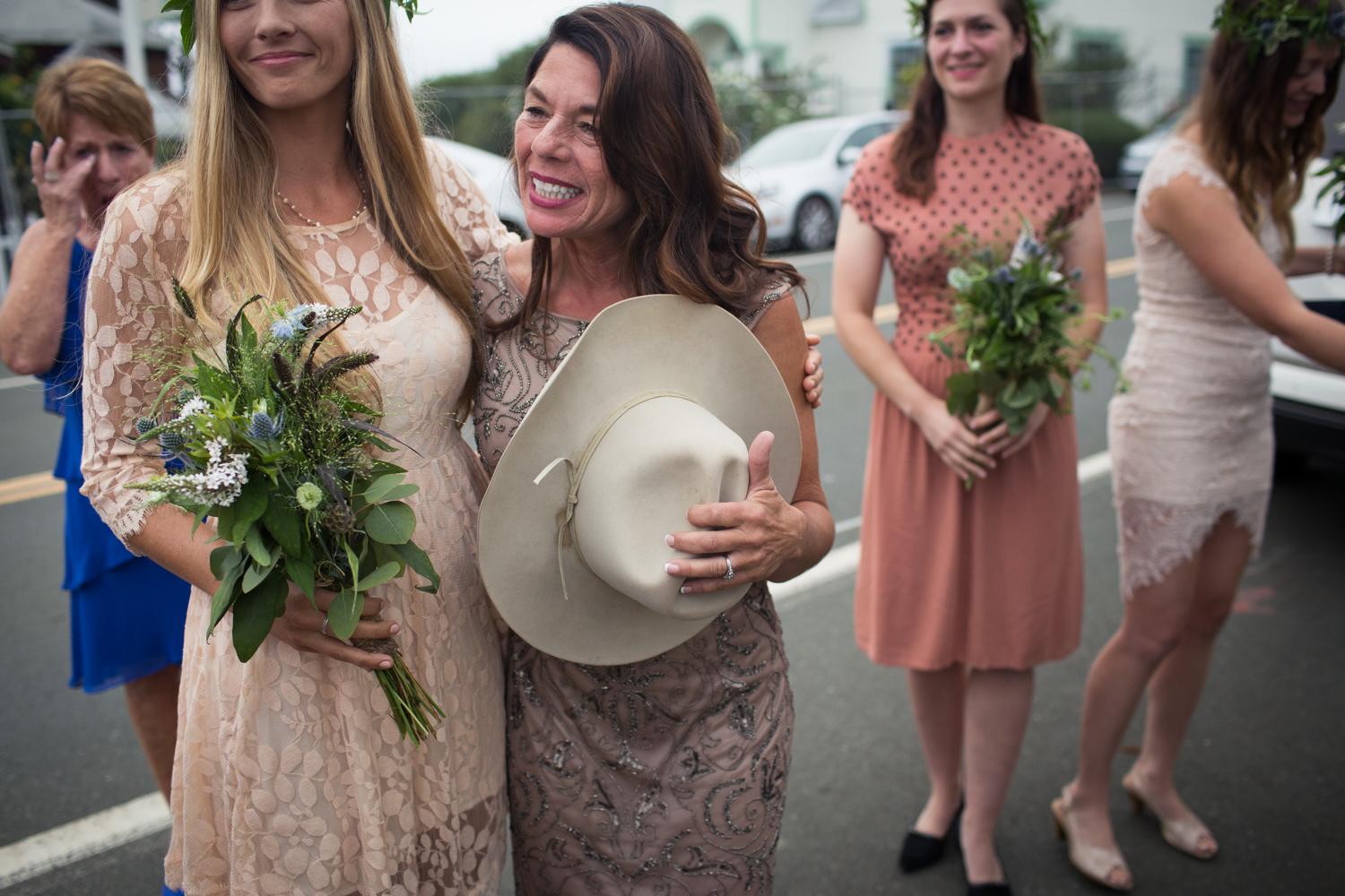 bridesmaids and mothers