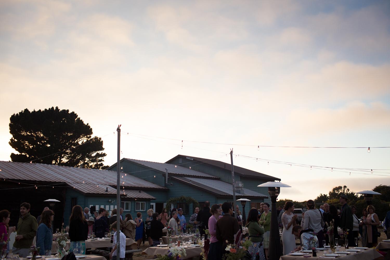 sunset wedding greenwood community center elk california