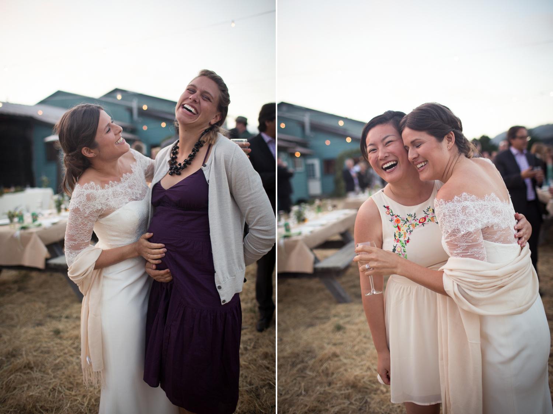 bride with besties