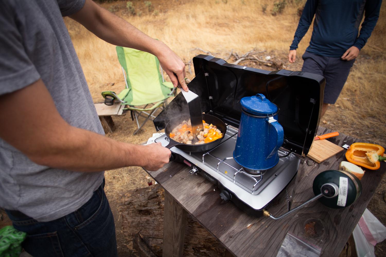 breakfast camping