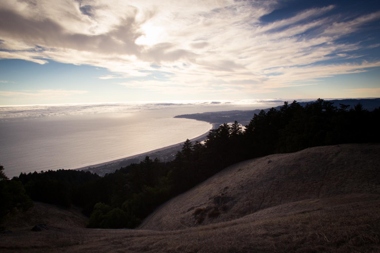 Bolinas from Mount Tamalpais at sunset