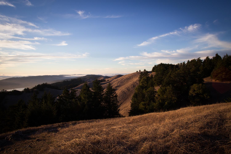Sunset at mount tam