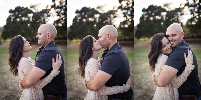 kisses engagement session sonoma county