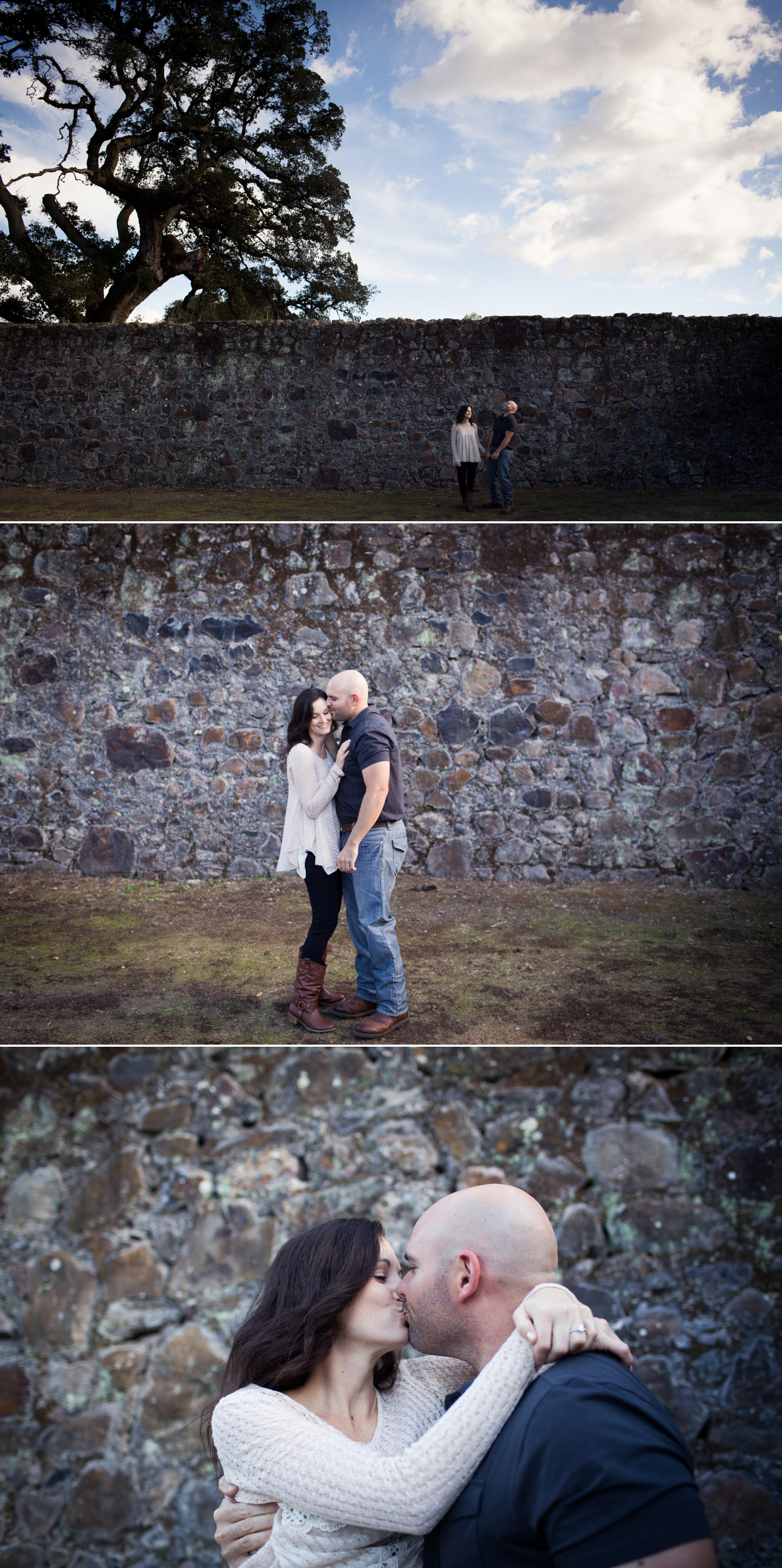 winery ruins engagement jack london state park