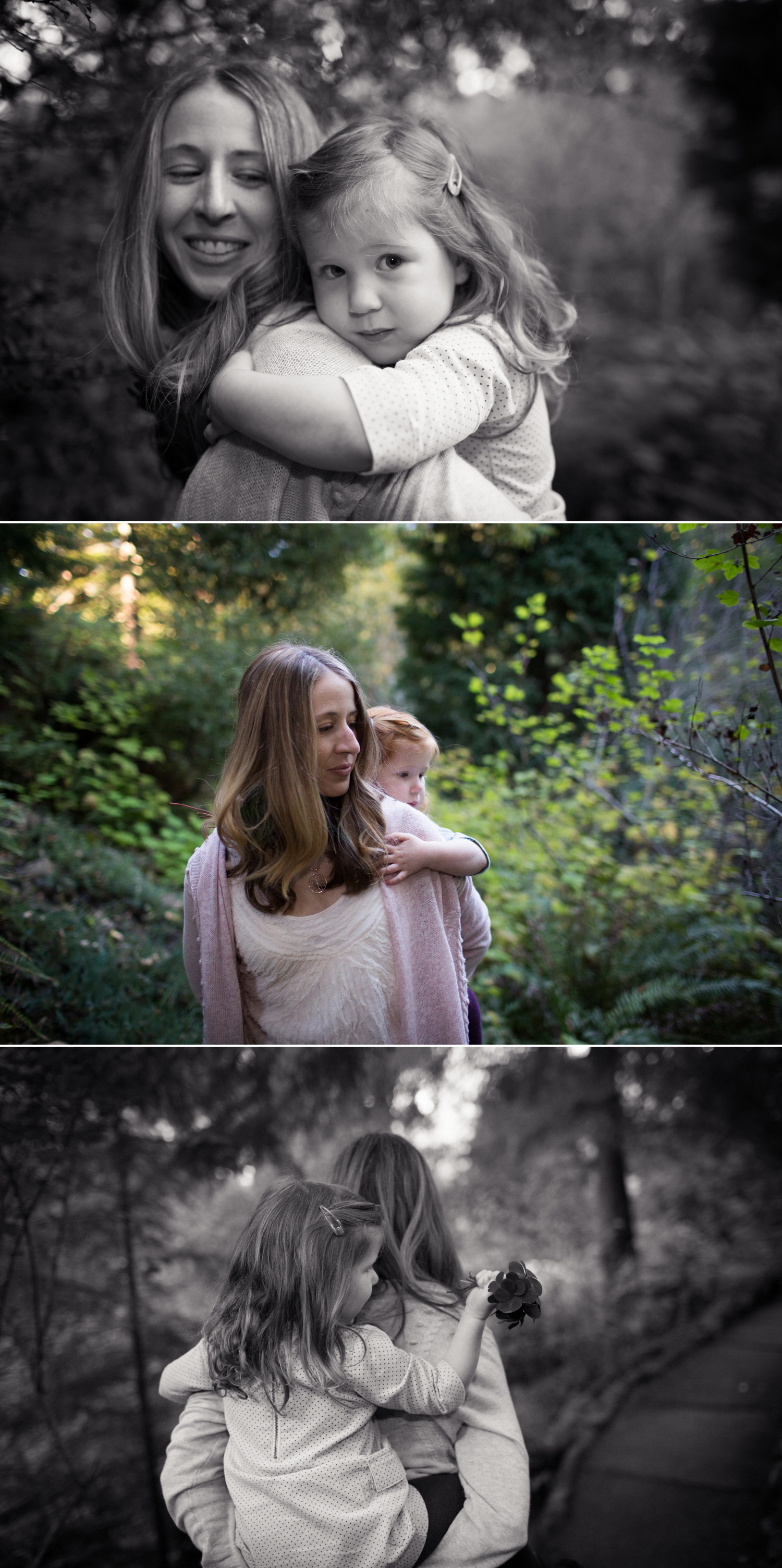mama bear and baby bear family session tilden