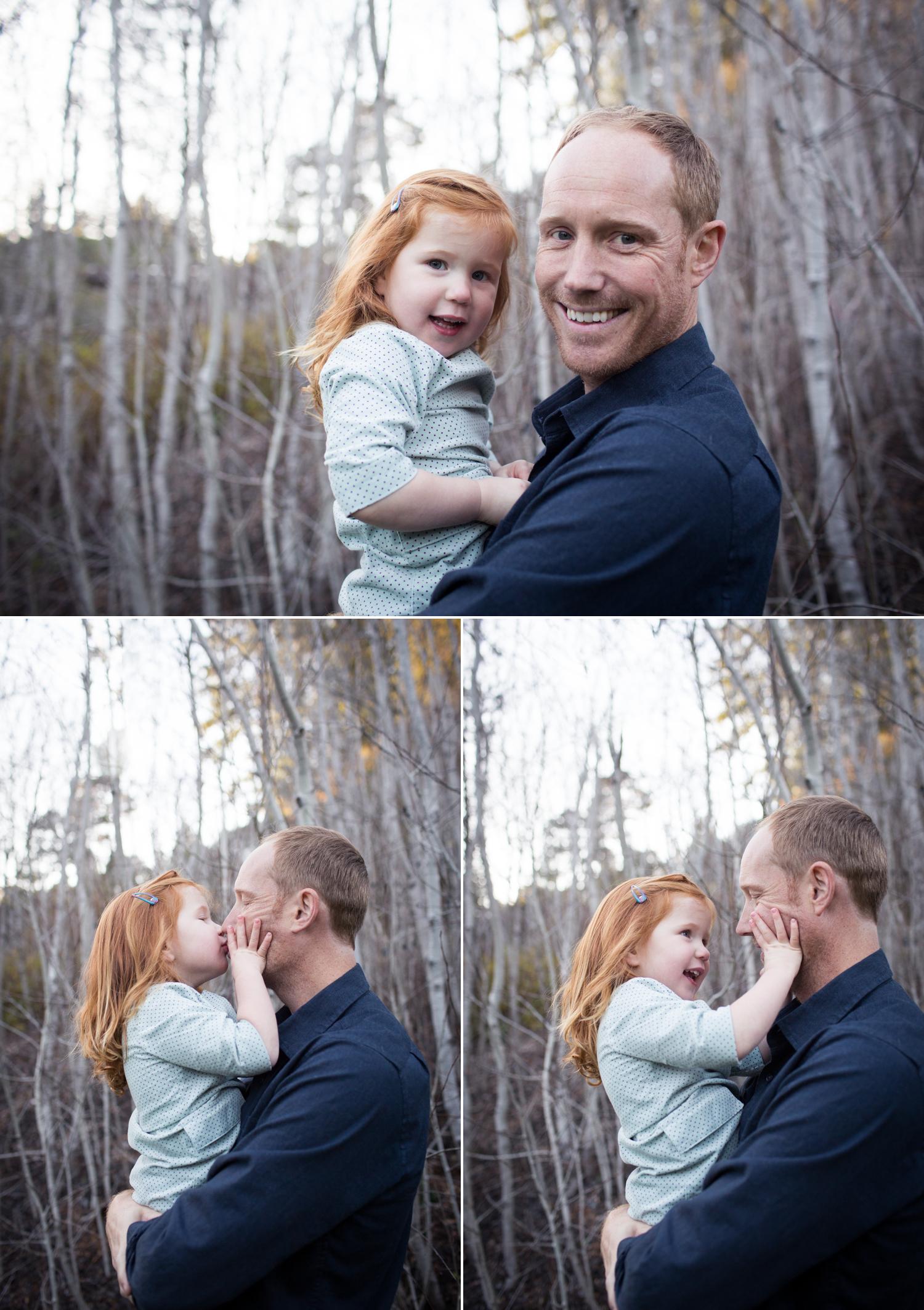 daddy kisses family session tilden park berkeley