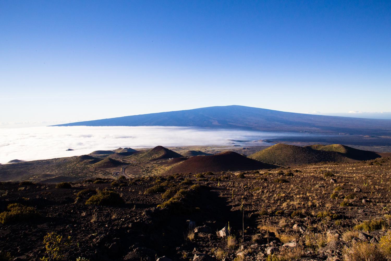 sunrise from Mauna Kea Mauna Loa in the distance