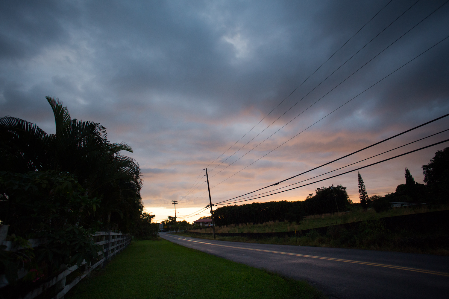 sunset in hilo