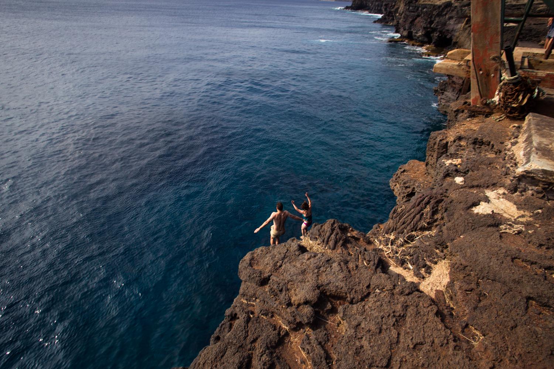 jumping off south point ka lae big island hawaii