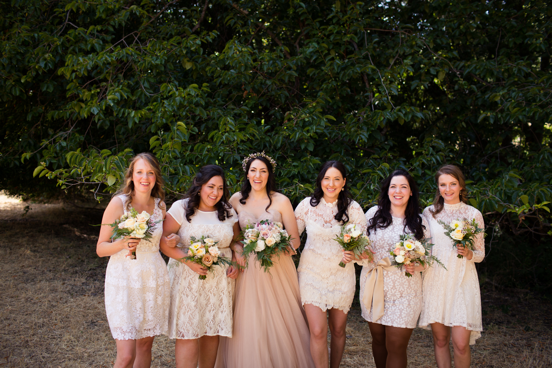 bridesmaids Mendocino County Wedding Photographer