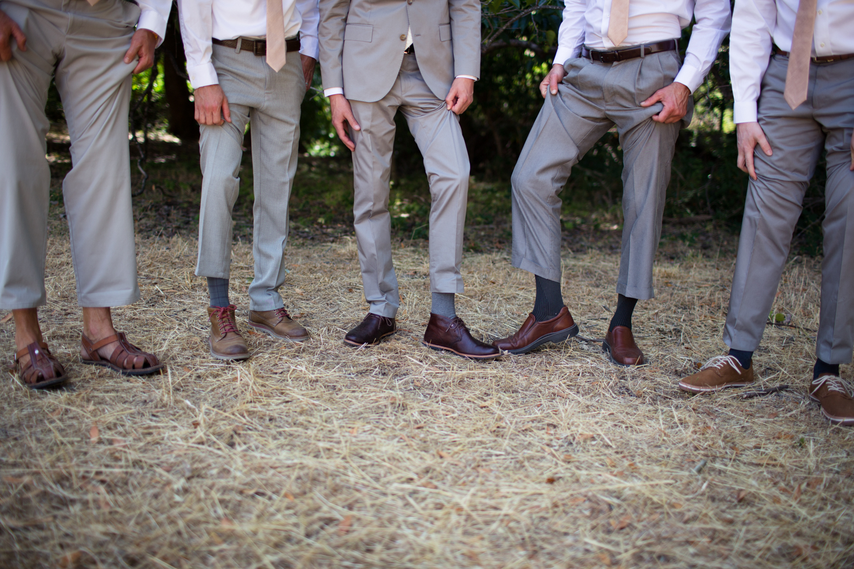 groomsmen Mendocino County Wedding Photographer