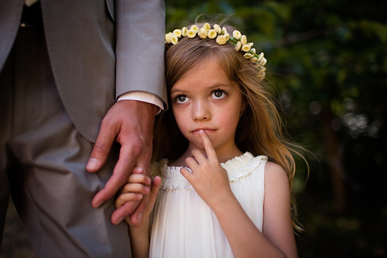 flower girl Mendocino County Wedding Photographer