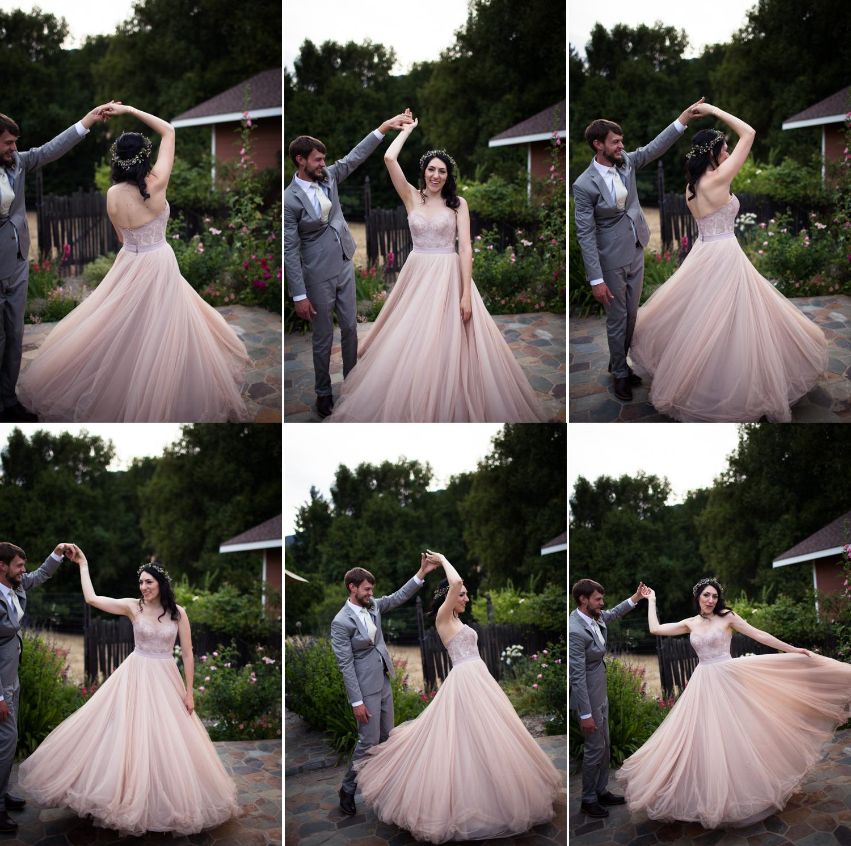 bhldn ahsan skirt and carina corset mendocino county wedding