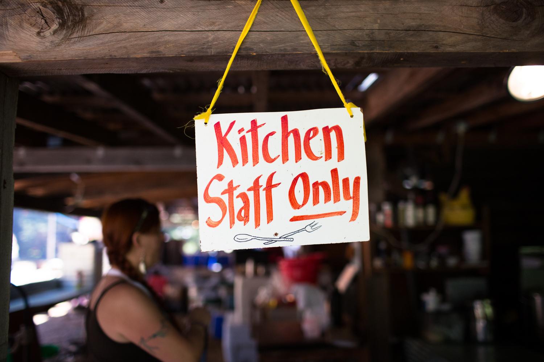 kitchen staff only